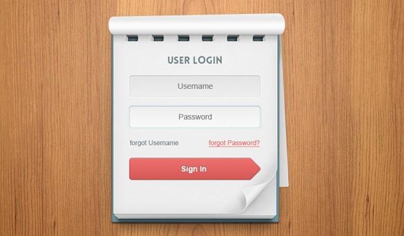 001-login-user-note-pad-book-paper-wood-psd